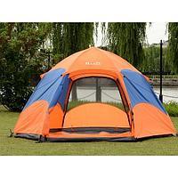 Палатка 5-8-ми местная Hanlu HL-8206-3 (2,6*2,6*1,5 м., 210Т, 3000 мм., автомат, двуслойная)