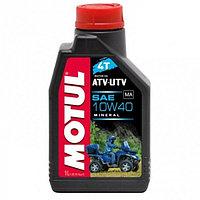 Моторное минеральное масло Motul ATV UTV 4T 10W-40 (1Л)