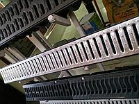 Поверхностный водоотвод. Канал с оцинкованной решеткой 125х80х1000мм Steelot тел. Whats Upp. 87075705151