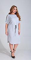 Платье Диамант-1523, светло-серый, 52