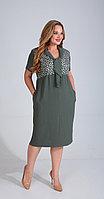 Платье Диамант-1525, зеленый, 52