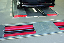 Силовой роликовый тормозной стенд для автомобилей с нагрузкой на ось до 8,0 т.