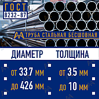Труба бесшовная 76/5 мм, ст20 ГОСТ 8732-87