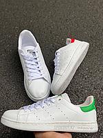 Кеды белые с зелен Adidas Stan Smith, фото 1