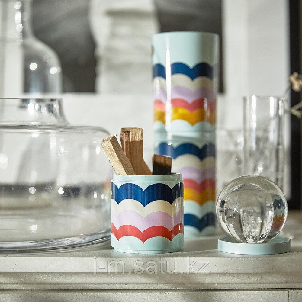 ИЛЛБАТТИНГ Декоративная коробка, разноцветный, металлический, сиреневый, розовый, бирюзовый, белый, разноцветн