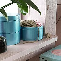 ЛАНКМОЙ Декоративная коробка, синий, синий, фото 1