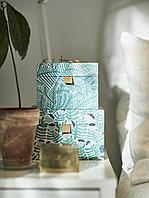 ЛАНКМОЙ Декоративная коробочка, 2 шт., зеленый/синий, с цветочным орнаментом, синий, зеленый, белый, разноцвет