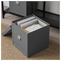 ФЬЕЛЛА Коробка с крышкой, темно-серый, темно-серый 30x31x30 см, фото 1