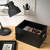 МАНИКК Коробка с крышкой, черный, серый, фото 1