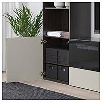 ТЬЕНА Коробка с крышкой, черный, черный 25x35x20 см, фото 1
