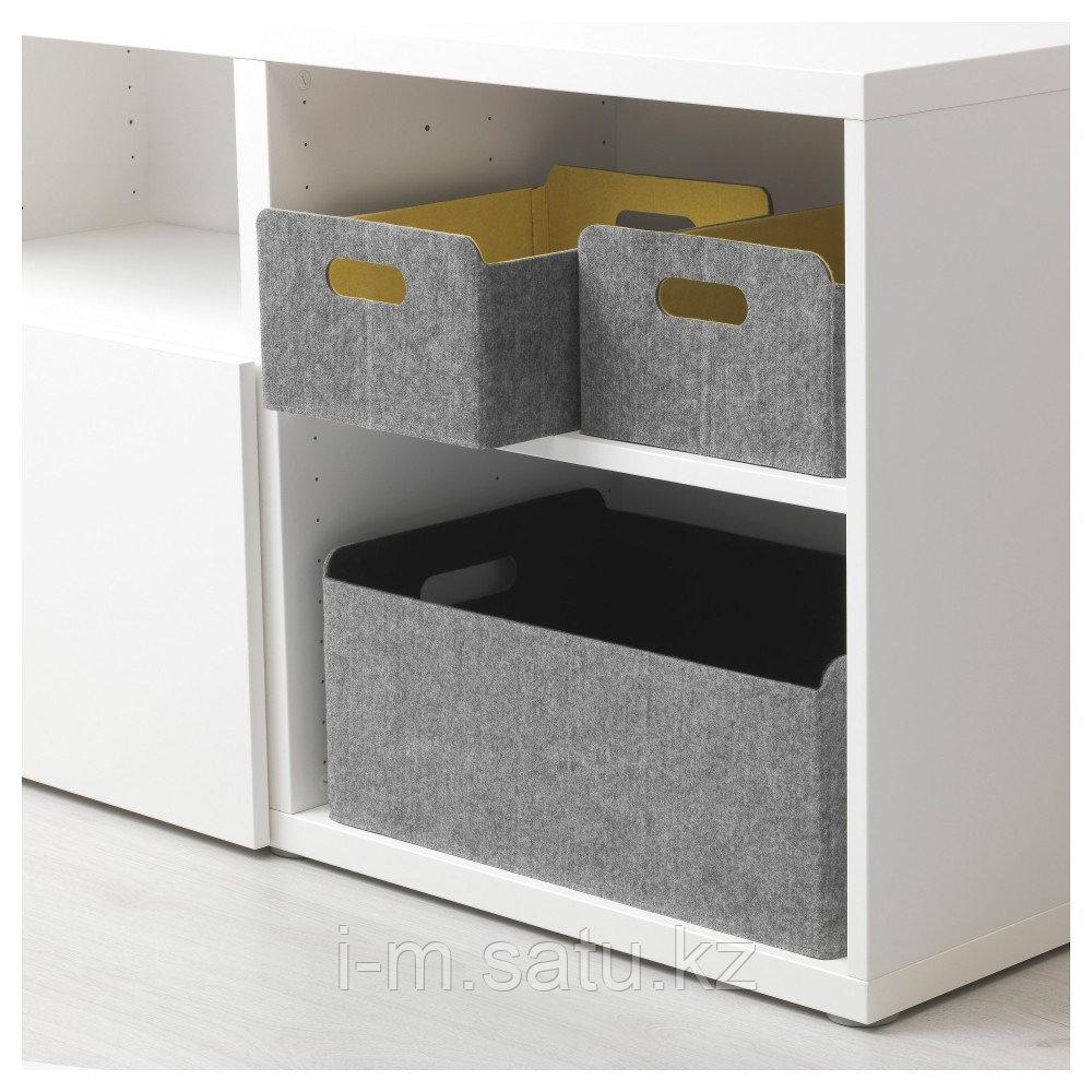 БЕСТО Коробка, желтый, желтый 25x31x15 см