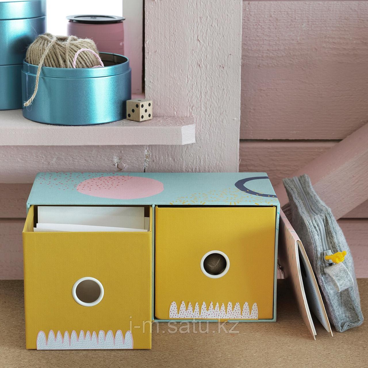 ЛАНКМОЙ Мини-комод с 2 ящиками, разноцветный, разноцветный