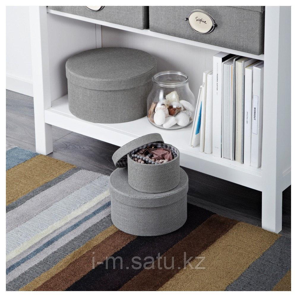 КВАРНВИК Набор коробок, 3 шт., серый, серый