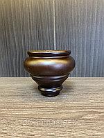 Ножка мебельная, деревянная. 10 см, с пластиной