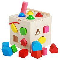 Логическая игрушка-сортер «Куб»