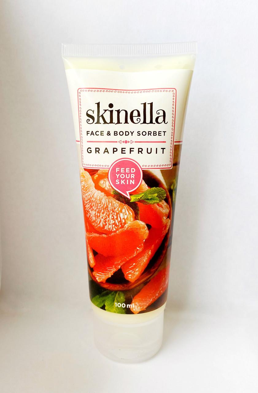 Сорбет для лица и тела с грейпфрутом, 100 мл, Skinella