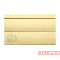 Сайдинг виниловый Vinylon BlockHouse D4,5 (кремовый), фото 2