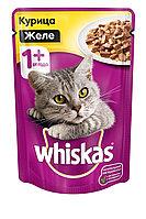 Whiskas, Вискас желе с курицей, влажный корм для кошек, пауч 28шт.*85 гр.