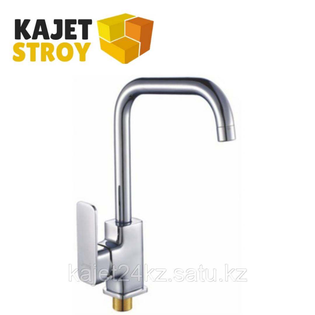 Смеситель KOLAG 1576 одноручный для кухни с высоким поворотным изливом (12)
