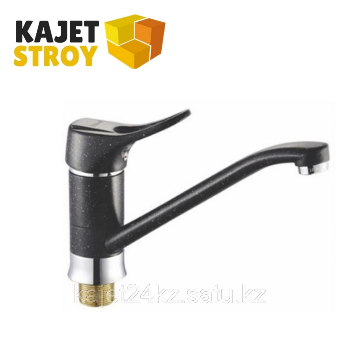 Смеситель KOLAG 2029-3 ч. одноручный для кухни с  поворотным изливом(черный) (12)