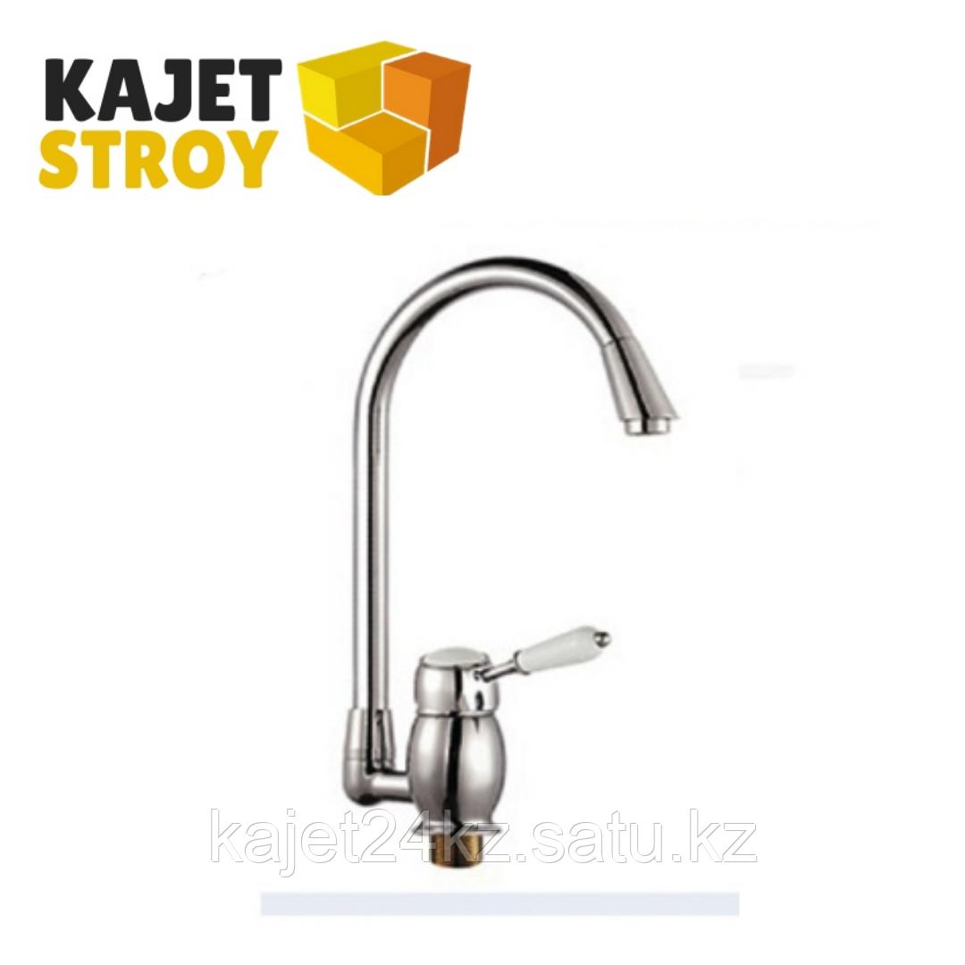 Смеситель KOLAG 2845 одноручный для кухни с высоким поворотным изливом (12)