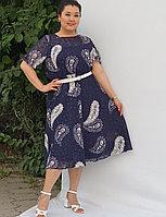 Платье летнее с огуречным принтом пейсли 54