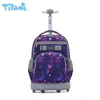 Школьный рюкзак на колесах Tilami Purple sky( Пурпурное небо) НОВИНКА 2020