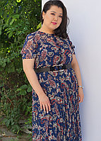 Платье летнее с огуречным принтом пейсли