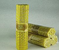 Свечи золочёные восковые № 80, 50шт Длина свечи 190мм, фото 1