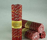 Свечи золочёные красные  50 шт Длина свечи 190мм, фото 1