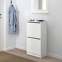 БИССА Галошница с 2 отделениями, белый, 49x93 см, фото 1