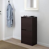 БИССА Галошница с 2 отделениями, черный, коричневый, 49x93 см, фото 1