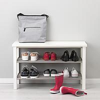 ЧУСИГ Скамья с полкой для обуви, белый, белый 81x50 см, фото 1