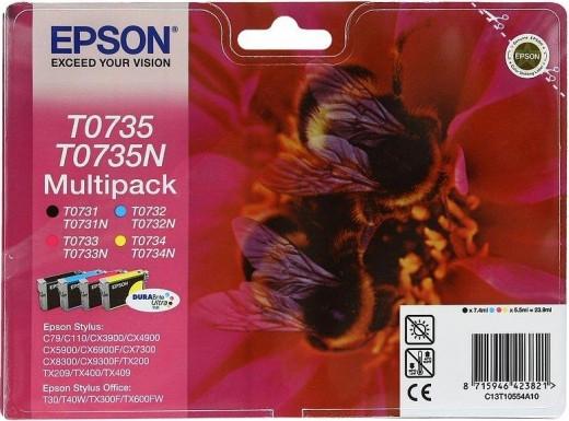 Картридж Epson C13T10554A10 (0735) C79/CX3900/4900/5900 набор 4 шт.