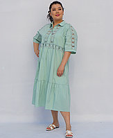 Платье летнее из хлопка для полных