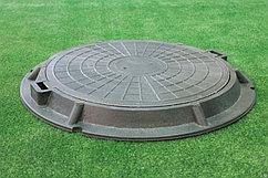 Люк канализационный полимерно-песчаный  (грузоподъёмность 1,5 тонны)