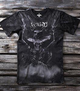 «Дикий запад» мужская тотальная футболка