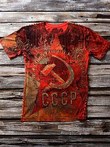 «Звезда ссср» мужская тотальная красная футболка
