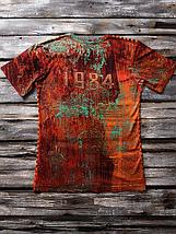 «Звезда ссср» мужская тотальная красная футболка, фото 2