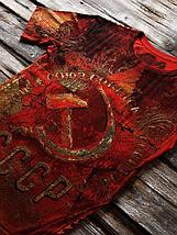 «Звезда ссср» мужская тотальная красная футболка, фото 3