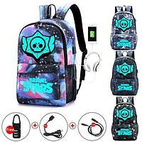 Brawl stars (бравл старс) школьный рюкзак