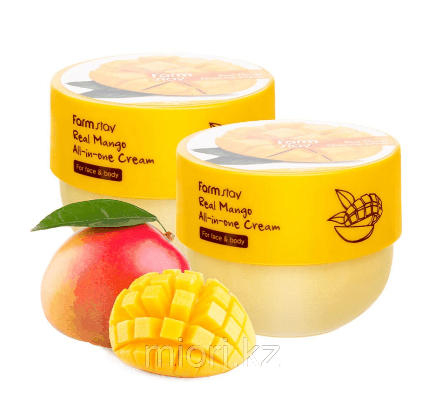 Крем для лица и тела с маслом манго - FARMSTAY Real Mango All-in-One Cream