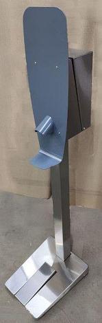 Мобильная стойка с механическим диспенсером для антисептика МДП-1060, фото 2