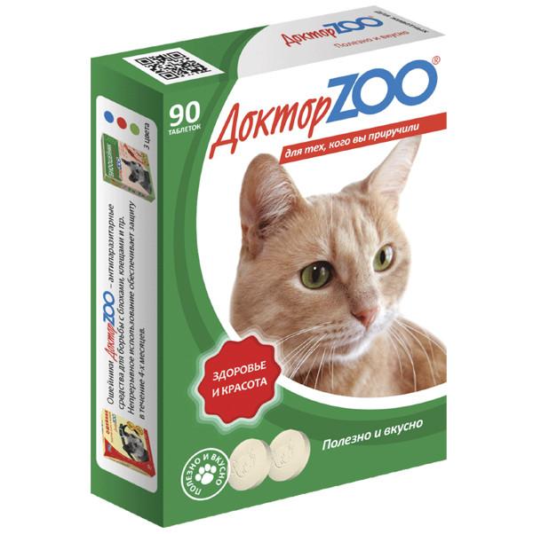 Витаминное лакомство для кошек Доктор ZOO Здоровье и красота