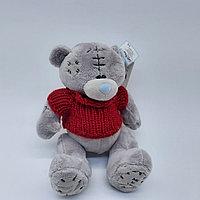 Мишка Тедди - 10 см (серый красная кофточка)