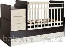 """Кроватка-трансформер детская Фея """"1100"""" венге-бежевый"""