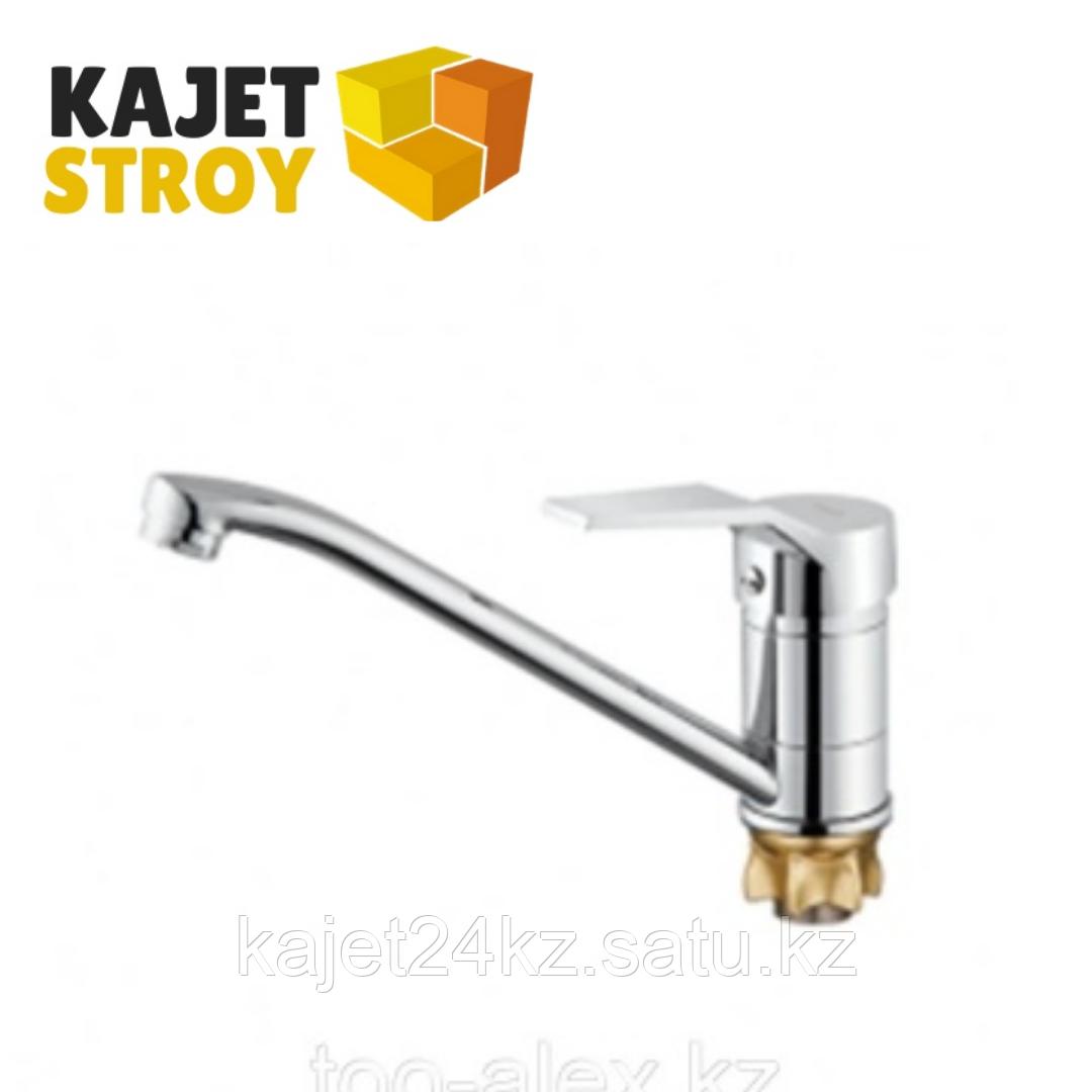 Смеситель ZEGOR PDF4-A180 одноручный для кухни с поворотным изливом,гайка (корона) (10)