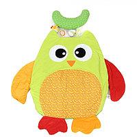 I-BABY Развивающий игровой коврик СОВА с подушкой