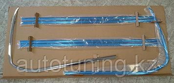 Накладки на стекла хром ( 6 шт) на Тойота Ленд Крузер 200 2007-2020 дизайн LX570