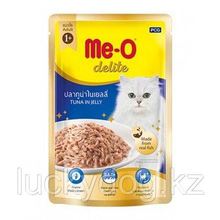 Me-O Delite влажный корм - лакомство для взрослых кошек всех пород с кусочками тунца 70 гр